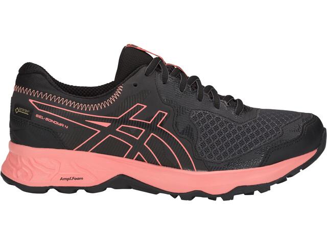 asics W's Gel-Sonoma 4 G-TX Shoes Dam dark grey/papaya